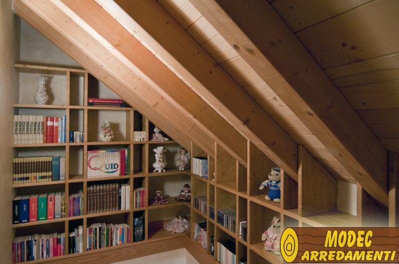 Ambienti personalizzati camere armadi e librerie modec arredamenti - Libreria da camera ...