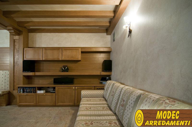 Controsoffitti Con Travi In Legno : Controsoffitti e boiserie in legno modec arredamenti